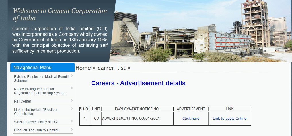 CCI Recruitment 2021 – Apply Online For 46 Engineer and Officer Vacancies - Govt Apply